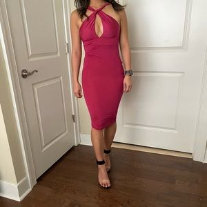 Pink Michael Costello x Revolve dress